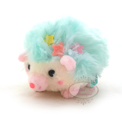 Hedgehog Crown Keychain Blue