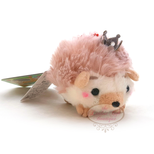 Hedgehog Crown Keychain Light Brown