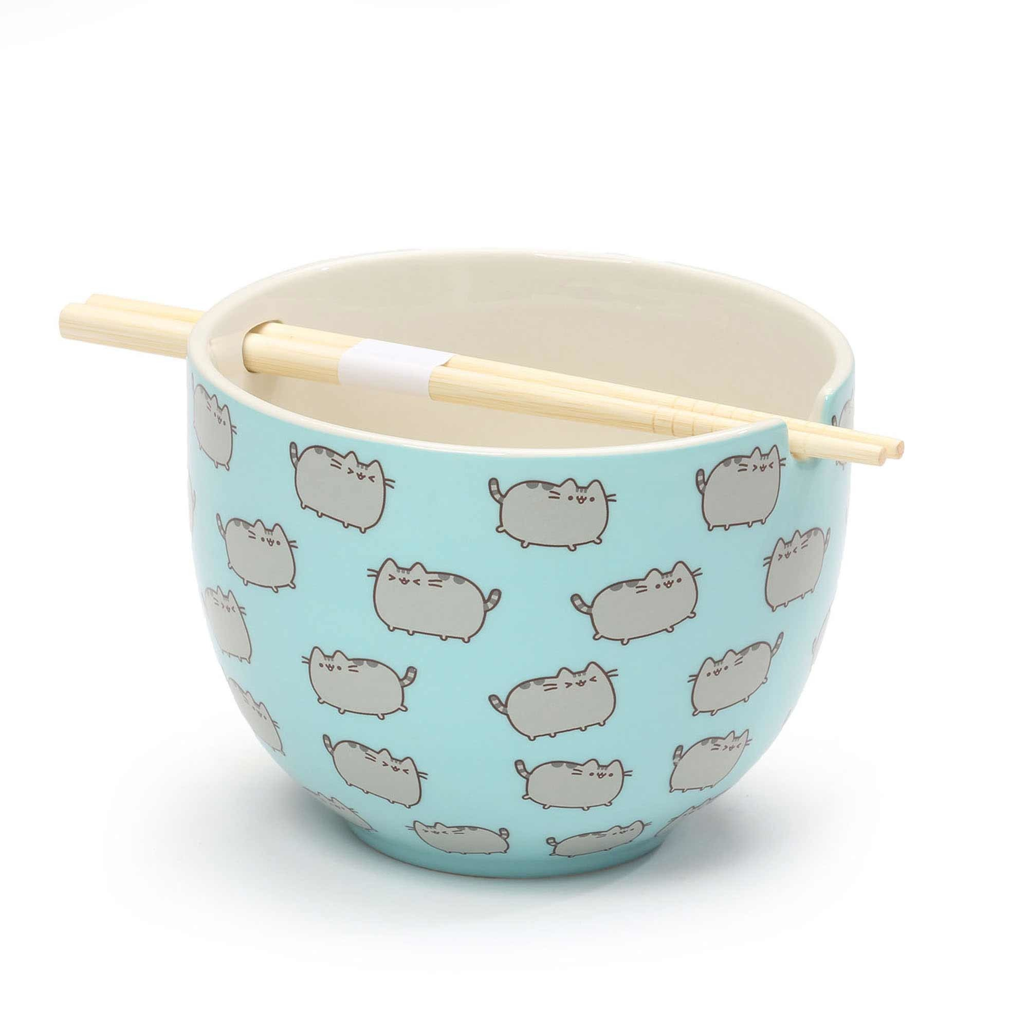 Pusheen Bowl with Chopsticks