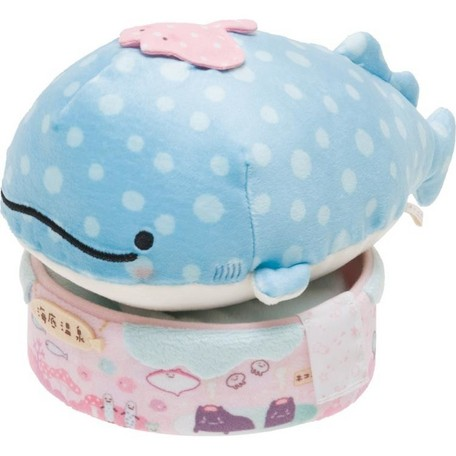 """Jinbei San"" Mr. Whale Shark Taking a Bath Plush"