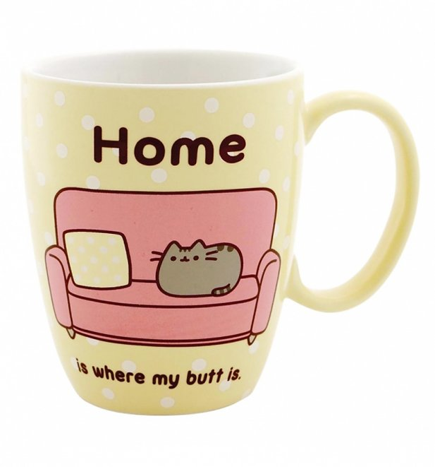 Pusheen Mug 12 oz. Home Butt
